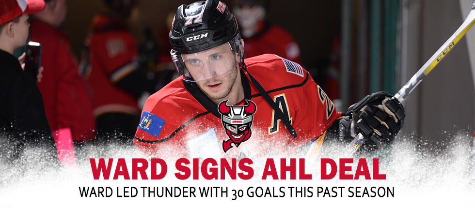 61c229807 DEVILS SIGN FORWARD BRIAN WARD TO AHL CONTRACT