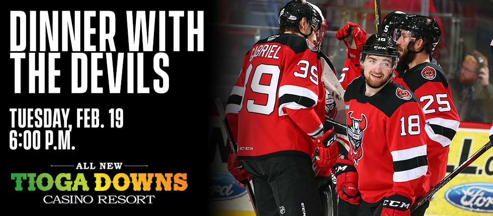 BINGHAMTON DEVILS TO HOST DINNER WITH THE DEVILS AT TIOGA DOWNS 32b5aeb43